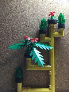 Jardín reciclado prototipo Lego